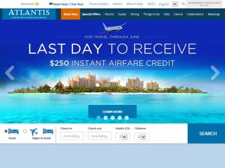 image of Atlantis, Paradise Island, Bahamas Wins 2015 Outstanding Mobile Website Mobile WebAward for AtlantisBahamas.com  Mobile Website