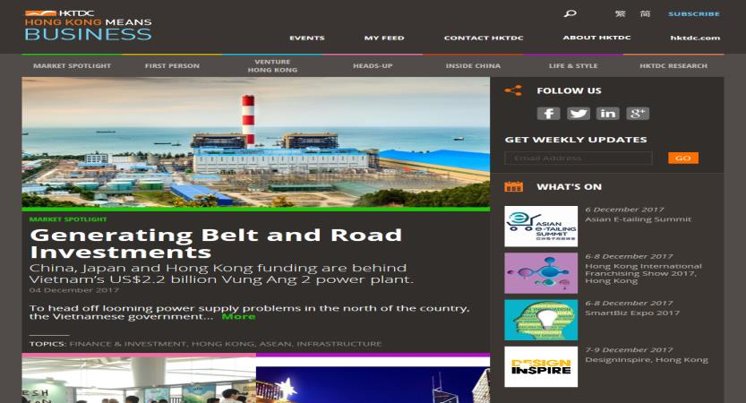 image of HKTDC / The1stMovement Wins 2015 Best News Mobile Website Mobile WebAward for Hong Kong Means Business