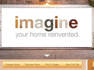 """image of Clopay Garage Doors and Hitchcock Fleming & Associates, Inc. Wins 2013 Best Home Building Mobile Website Mobile WebAward for Clopay® Garage Doors """"Imagine"""" Campaign Landing Page"""