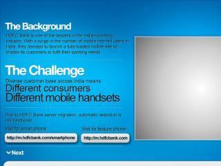 image of Thmbstrk Wins 2012 Best Bank Mobile Website Mobile WebAward for HDFC Bank Mobile Site