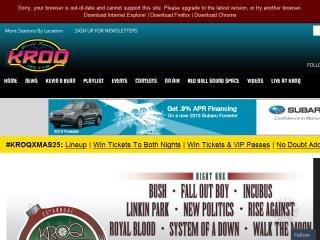 image of CBS Local Digital Media Wins 2014 Best Radio Mobile Website Mobile WebAward for Best Radio Mobile Website: KROQ