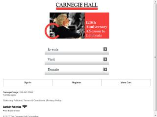 image of iMedia and Carnegie Hall Wins 2012 Best Arts Mobile Website Mobile WebAward for Carnegie Hall Mobile Website