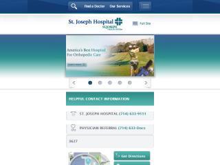 image of Scorpion Healthcare Wins 2012 Best Health Care Mobile Website, Best Healthcare Provider Mobile Website, Best Medical Mobile Website Mobile WebAward for St. Joseph Hospital Mobile Website