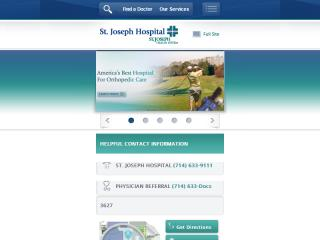 image of Scorpion Healthcare Wins 2012 Best Health Care Mobile Website, Best Healthcare Provider Mobile Website, Best Medical Mobile Website Mobile WebAward for St. Joseph Hospital Mobile Website