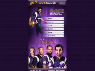 image of Thmbstrk Wins 2012 Best Sports Mobile Website Mobile WebAward for KKR Mobile Site