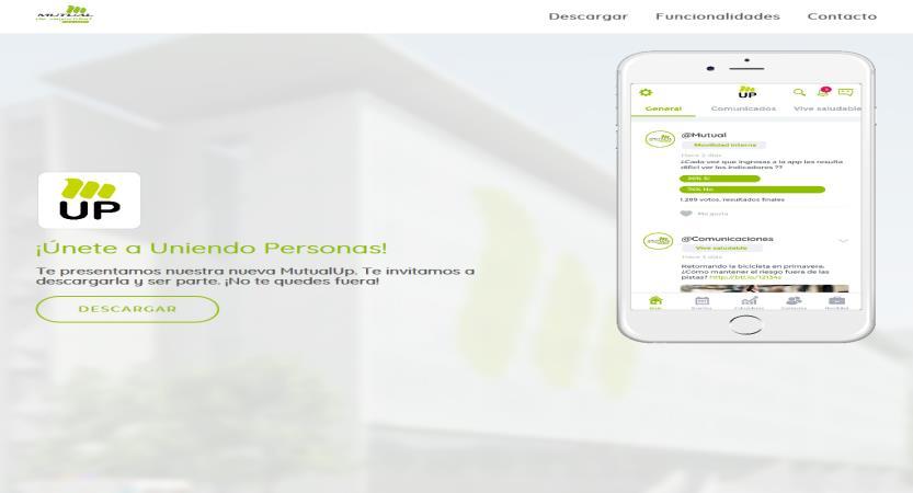 image of El Mundo al Revés / Mutual de Seguridad Wins 2018 Best Intranet Mobile Application Mobile WebAward for Mutual UP (by budii)