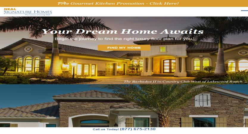image of Nebo Agency Wins 2017 Best Real Estate Mobile Website Mobile WebAward for Neal Signature Homes Redesign