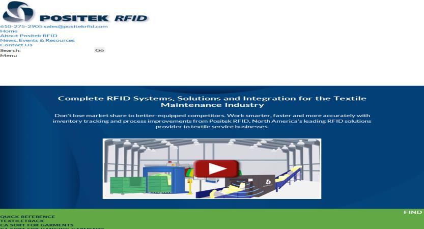 image of Furia Rubel Communications, Inc. Wins 2016 Best Manufacturing Mobile Website Mobile WebAward for Positek RFID