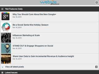 image of Website Magazine Wins 2013 Best Magazine Mobile Website Mobile WebAward for WebsiteMagazine.com