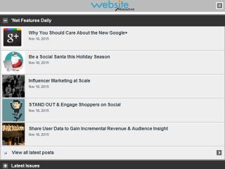 image of Website Magazine Wins 2014 Best Magazine Mobile Website Mobile WebAward for WebsiteMagazine.com