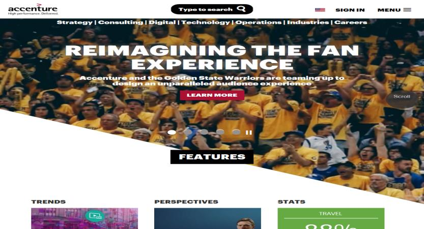 image of TBWA\Chiat\Day Wins 2014 Best Consulting Mobile Website Mobile WebAward for Accenture Mobile Website