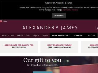 image of Huge and Diageo Wins 2013 Best Beverage Mobile Website Mobile WebAward for Diageo's Alexander & James