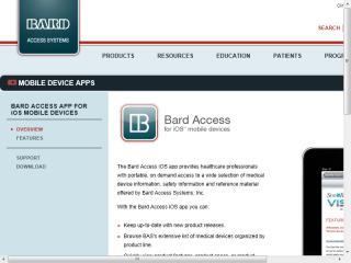 image of  Vérité, Inc. and Bard Access Systems Wins 2012 Best Medical Equipment Mobile Application Mobile WebAward for Bard Access Systems