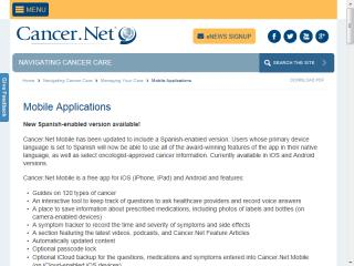 image of Cancer.Net Mobile Wins 2014 Best Health Care Mobile Application Mobile WebAward for American Society of Clinical Oncology (ASCO)