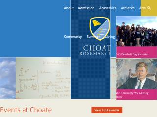 image of Finalsite.com Wins 2013 Best School Mobile Website Mobile WebAward for Choate Rosemary Hall
