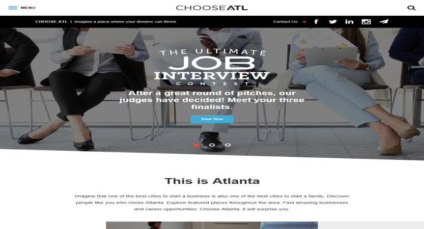 image of Nebo Agency Wins 2016 Best Associations Mobile Website Mobile WebAward for Metro Atlanta Chamber Website Launch