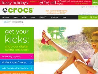 image of Crocs Wins 2014 Best Design Mobile Website Mobile WebAward for Crocs Digital Spring Look Book