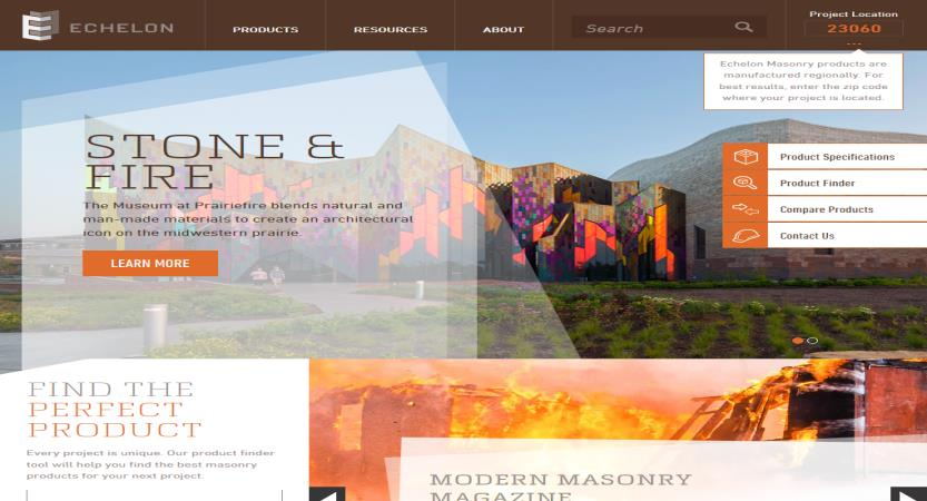 image of Nebo Agency Wins 2017 Best B2B Mobile Website Mobile WebAward for Echelon Design