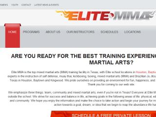 image of TopSpot Internet Marketing Wins 2015 Best Sports Mobile Website Mobile WebAward for Elite MMA Responsive Website