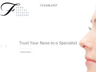 image of TopSpot Internet Marketing Wins 2015 Best Medical Mobile Website Mobile WebAward for Funk Facial Plastic Surgery Responsive Website