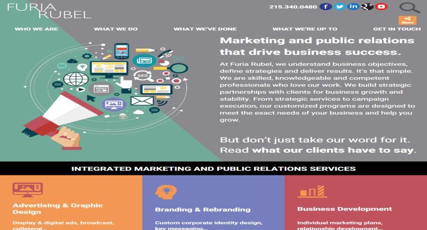 image of Furia Rubel Communications, Inc. Wins 2017 Best Marketing Mobile Website Mobile WebAward for Furia Rubel Communications Website - Rebrand