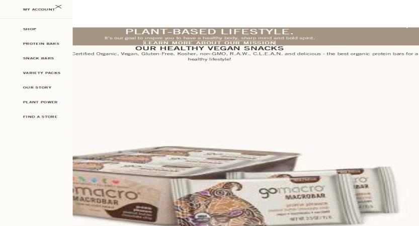 image of Cuker Wins 2020 Best Food Industry Mobile Website Mobile WebAward for GoMacro - Bigger Than A Bar