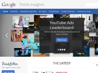 image of Huge and Google Wins 2013 Best B2B Mobile Website Mobile WebAward for Google Think Insights