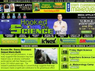 image of Hooked on Science Wins 2012 Best Education Mobile Website Mobile WebAward for www.hookedonscience.org