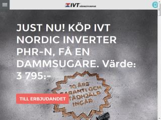 image of IVT Värmepumpar Wins 2014 Best Home Building Mobile Website Mobile WebAward for ivt.se