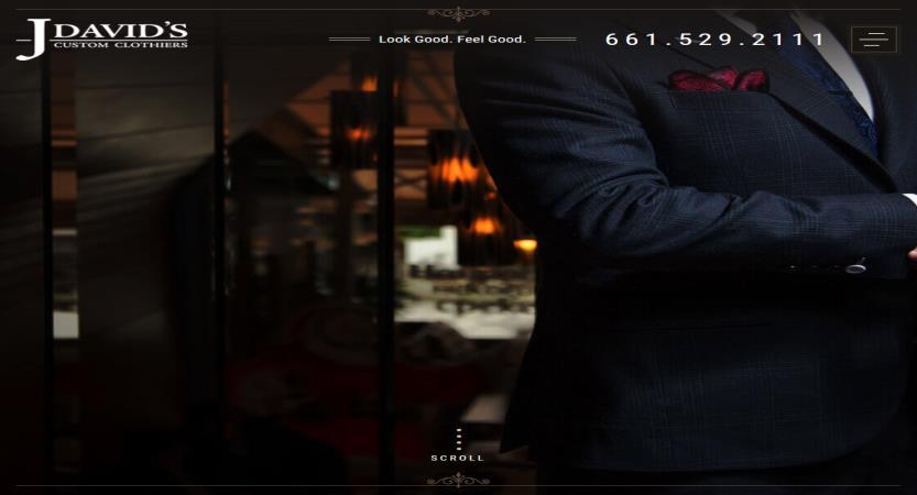 image of Scorpion Wins 2017 Best Fashion or Beauty Mobile Website Mobile WebAward for J. David's Custom Clothiers