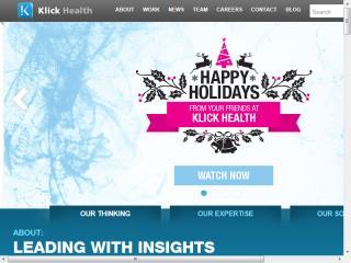 image of Klick Health Wins 2014 Best Marketing Mobile Website Mobile WebAward for Klick Health Website