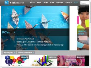 image of Klick Health Wins 2014 Best Blog Mobile Website Mobile WebAward for Digital Rx Blog
