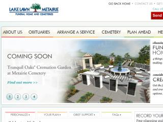 image of Stewart Enterprises & Tributes Wins 2013 Best Other Mobile Website Mobile WebAward for Lakelawn Metairie