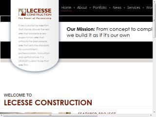 image of Atomic Design Wins 2013 Best Construction Mobile Website Mobile WebAward for Lecesse Construction
