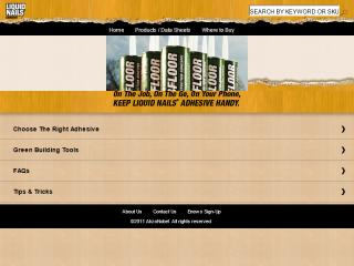 image of hfa / LIQUID NAILS Adhesive Wins 2012 Best Construction Mobile Website Mobile WebAward for LIQUID NAILS Mobile Site