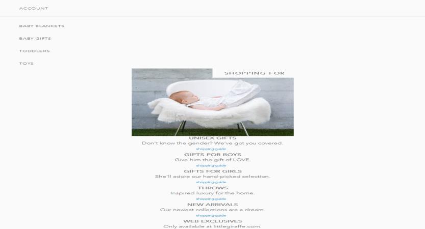 image of Cuker Wins 2018 Best Shopping Mobile Website Mobile WebAward for Little Giraffe Website