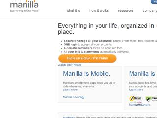 image of Manilla Wins 2013 Best Financial Services Mobile Website Mobile WebAward for Manilla.com