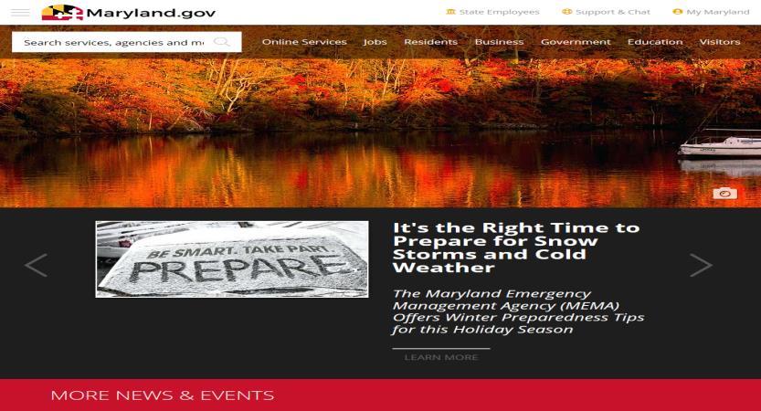 image of Maryland Department of Information Technology Wins 2018 Best Portal Mobile Website Mobile WebAward for Maryland.gov, the State's Official Website