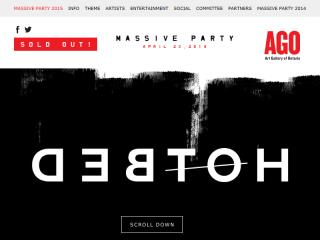 image of AGO Massive Party  Wins 2015 Best Events Mobile Website Mobile WebAward for AGO Massive Party