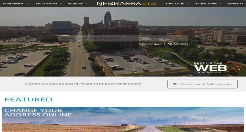 image of Nebraska Interactive Wins 2016 Best Government Mobile Website Mobile WebAward for Nebraska State Website