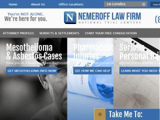 image of Scorpion Design Wins 2014 Best Legal Mobile Website Mobile WebAward for Nemeroff Law Firm