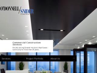 image of TopSpot Internet Marketing Wins 2015 Best Construction Mobile Website Mobile WebAward for O'Donnell/Snider Construction Responsive Website