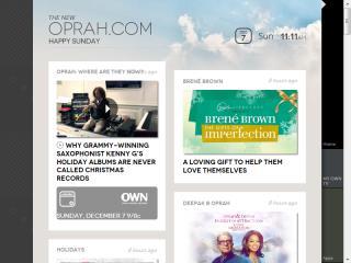 image of RED Interactive Agency, OWN Digital, Harpo Studios Wins 2014 Best Media Mobile Website Mobile WebAward for Oprah.com