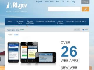 image of State of Rhode Island  Wins 2012 Best Government Mobile Application Mobile WebAward for RI Government Online for the Mobile Web