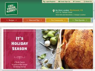 image of Geary LSF Wins 2013 Best Food Industry Mobile Website Mobile WebAward for The Fresh Market Mobile Responsive Website