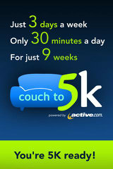 image of Active Network Wins 2012 Best Mobile Industry Mobile Application Mobile WebAward for Active.com Couch-to-5K