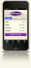 image of Mobile Solutions Wins 2012 Best Media Mobile Application Mobile WebAward for Cars.com iPhone app