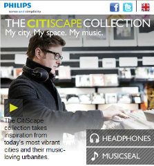 image of Philips Electronics Hong Kong Ltd Wins 2012 Best Electronics Mobile Website Mobile WebAward for THE CITISCAPE COLLECTION - MY CITY. MY SPACE. MY MUSIC