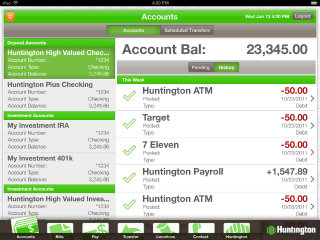 image of Intuitive Company Wins 2012 Best Financial Services Mobile Application Mobile WebAward for Huntington Mobile App for iPad