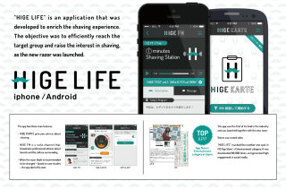 image of Great Works KK Wins 2015 Best Consumer Goods Mobile Application Mobile WebAward for HIGE LIFE